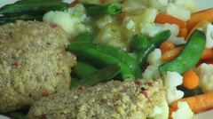 Fish and Mixed Vegetables, Meals, Dinner Stock Footage