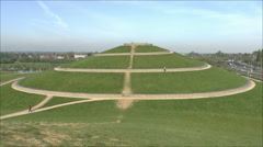 One of the four mounds in Northala Fields, Northolt, London, UK. Stock Footage