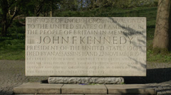 The John F. Kennedy Memorial, Runnymede, Surrey, UK. Stock Footage