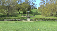 The Magna Carta Memorial, Runnymede, Surrey, UK. Stock Footage