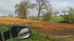 French countryside from car window Stock Footage