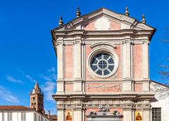 facade of orthodox church in alba, italy. - stock photo