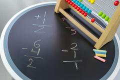 Math time abacus - stock photo