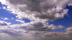 Midday clouds extra long timelapse Stock Footage