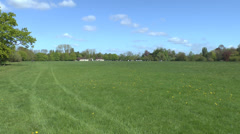 The meadows at Runnymede, site of the signing of the Magna Carta, 1215. Stock Footage