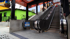 Outdoor escalators in Medellin, Colombia. Stock Footage