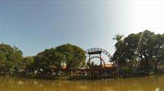 Siem reap riverside timelapse Stock Footage