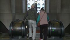 Metro Escalator in Washington D.C. Stock Footage