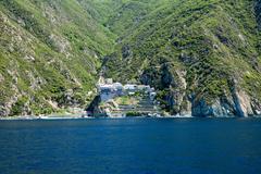 Dionissiou monastery Stock Photos