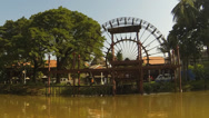 Stock Video Footage of Siem Reap riverside timelapse