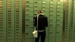 Locker room. locker save. savings safety. withdraw money cash Stock Footage