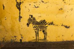 Graffiti zebra Stock Photos