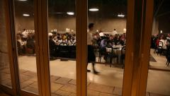 Restaurant dinner people Stock Footage