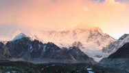 Stock Video Footage of Timelapse sunrise in the mountains Cho Oyu, Himalayas, Nepal.