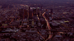 LA City Lights nd Traffic View at Night - stock footage