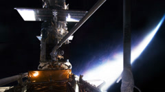 Hubble Space Telescope Being Worked On, HD Stock Footage