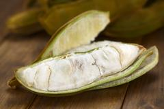 peruvian fruit called pacay - stock photo