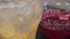 Pouring Punch at a party Stock Footage