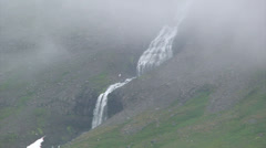 Waterfall in the mist Stock Footage
