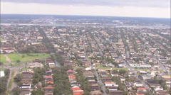 Flooding City Buildings Homes Stock Footage