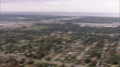 Flooded Buildings Airport Stock Footage