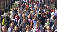 People Crowd Fast move. Time lapse. - stock footage