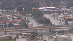 Flooded Buildings Businesses Homes Stock Footage