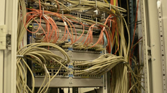 Network Hub in Data Center Stock Footage