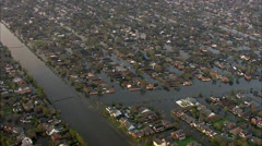 Homes Submerged Residential Stock Footage