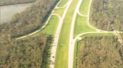 Trees Field Highway Hurricane Katrina Stock Footage