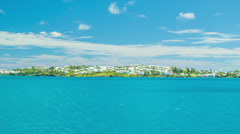 Sailing Past Tropical Island in Bermuda - stock footage