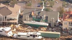 Hurricane Katrina Harbor Damage Stock Footage