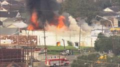 City Smoke Building Fire Stock Footage