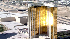 Las Vegas Mandalay Bay Strip Stock Footage