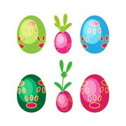 Easter egg Tracery Footprint Stock Illustration