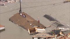 Hurricane Katrina Destruction Victims - stock footage