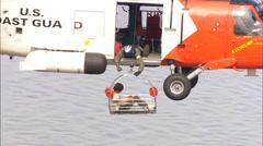 Hurricane Katrina Rescue Coast Guard - stock footage