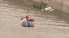 Hurricane Katrina Coast Guard Rescue Stock Footage