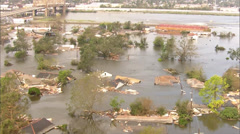 Hurricane Katrina Damage Stock Footage