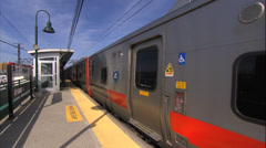 Stock Video Footage of Metro North Train. Connecticut Commuter Train. Rail Travel