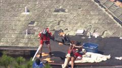 Katrina Hurricane Destruction Rescue Stock Footage