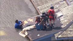 Katrina Hurricane Survivors Coast Guard Stock Footage