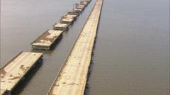 Hurricane Katrina Destruction - stock footage