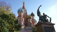 Moscow Red Square Kremlin St Basil Cathedral Day 001 Stock Footage