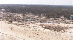 Hurricane Katrina Destruction Beaches Stock Footage