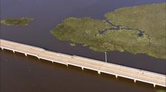 Overhead New Orleans Bridge Stock Footage