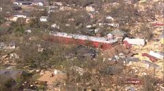 Hurricane Katrina Train Yard Stock Footage