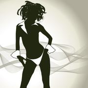 Sexy woman silhouette Stock Illustration