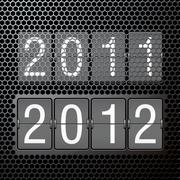 2012 new year on mechanical scoreboard Piirros