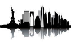 new york skyline - stock illustration